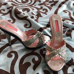 Betsey Johnson metallic stiletto heels